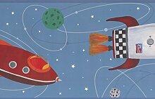 York Wallcoverings Rocket Raumschiff Planeten