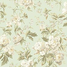 York Wallcoverings wa7805 Waverly Classics Forever Yours Tapeten, Pale Mint/Weiß/Beige/Light Gray/apricot/Butter/salbei/dunkelgrün