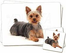 Yorkshire Terrier Hund Twin 2x Platzsets + 2x
