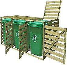 yorten Mülltonnenbox aus Holz