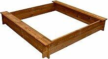 yorten Sandkasten Sandkiste Quadratisch aus Holz