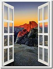 Yosemite-Bild, Halbkuppel bei Sonnenuntergang,
