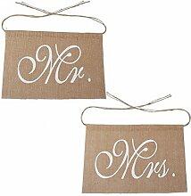 Yosemite Herr Frau Buchstaben Spitze Jute Hochzeit