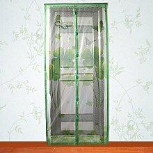 Yosoo Magnetische Bildschirm Mesh Vorhang Anti Mosquito Fliegen Insekt Bug Pest Tür Vorhang Net Sommer Zubehör 82 × 35inch ( Farbe : Grün )