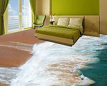 Yosot 3D Bodenmaler-Tapete Surf Strand 3D