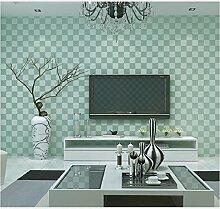 Yosot Einfache Vliestapete Einfache Quadratische Blockgitter Tapete Hellgrün