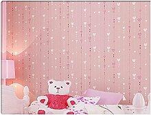Yosot Kinderzimmer Tapete Rosa Vertikal Gestreift