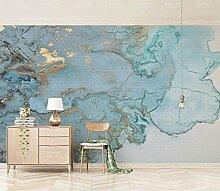 Yosot Luxuriöse Gold Blau Textur Marmor Tapete
