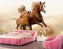 Yosot Pferde Jungen Zwei Tiere Foto 3D Tapeten