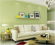 Yosot Plain Vliestapeten Schlafzimmer Wohnzimmer Shop Hintergrundbild Hellgrün