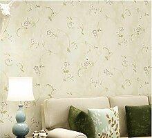 Yosot Retro Amerikanische Tapeten Vliesstoff Pastoralen Wohnzimmer Schlafzimmer Sofa Sofa Und Tv Hintergrundbild Gelb