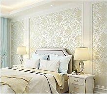 Yosot Umwelt Vliestapeten Tapeten Tapete Tapeten Wohnzimmer Schlafzimmer Mit 3-D-Fernseher Hintergrund Damaskus Wallpaper Verdickung Reis Weiß