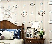 Yosot Zimmer Jungen Mädchen Kinder- Schlafzimmer Vertikale Streifen Tapete Vlies Umweltschutz Wallpaper. Gelb