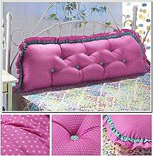 YOTA HOME Bedside Rückenlehne Günstige Baumwolle koreanische Version des großen Doppelbett Kissen Kissen Bett Rückenlehne Kissen gepolstert (Farbe : # 1)
