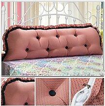 YOTA HOME Bedside Rückenlehne Günstige Baumwolle koreanische Version des großen Doppelbett Kissen Kissen Bett Rückenlehne Kissen gepolstert (Farbe : #7)