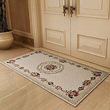 YOTA HOME Teppiche Matten Boden Foyer Tür Teppich Badezimmer Schlafzimmer Teppich Waschbar Mode 50 * 80 cm, 60 * 90 cm, (Größe : 60*90CM)
