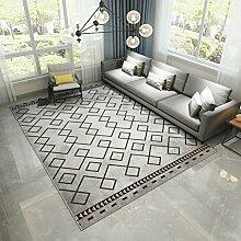 YOTA HOME Teppiche Teppich Europäischer Teppich Rechteckiger Teppich Wohnzimmer Couchtisch Schlafzimmer Studie Nachtdecke 120cm × 160cm (Farbe : C)