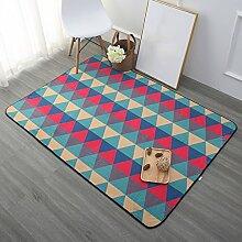 YOTA HOME Teppiche Teppich Home Teppich Schlafzimmer Couchtisch Sofa Kontinental Zimmer Nachttisch Wohnzimmer Moderne Rechteck 100 cm × 150 cm, (Farbe : A)
