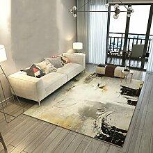 YOTA HOME Teppiche Teppich Schlafzimmer Nachttisch Rechteckig Modern Minimalistischen Wohnzimmer Sofa Europäischen Stil Couchtisch 120cm × 160cm (Farbe : A)