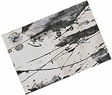 YOTA HOME Teppiche Teppich Teppiche Rechteckige Mode Mischung Material Wohnzimmer Arbeitszimmer Schlafzimmer Nachttisch Couchtisch 90cm * 120cm (Farbe : A)