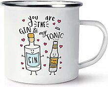 You Are The Gin To My Tonic Retro Emaille Becher