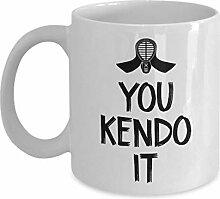 You Kendo It Tasse, 325 ml, Keramik, weiß, mit