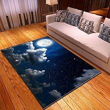 YOUHU Wohnzimmer Rutschfester Teppich,Scenery