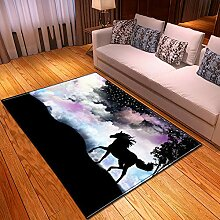 YOUHU Wohnzimmer Rutschfester Teppich,Teppich Mit