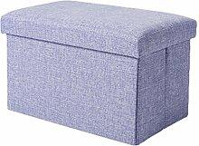 YOUJIA Aufbewahrungsbox Lagerung Hocker Fußbank Sitzwürfel Sitzbox Faltbar Sitztruhe Sitzkasten Polsterhocker Truhe (Violett,40*25*25cm)