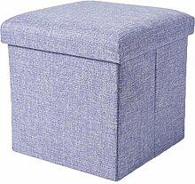 YOUJIA Aufbewahrungsbox Lagerung Hocker Fußbank Sitzwürfel Sitzbox Faltbar Sitztruhe Sitzkasten Polsterhocker Truhe (Violett,30*30*30cm)