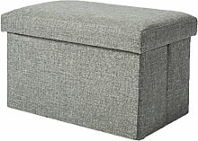 YOUJIA Aufbewahrungsbox Lagerung Hocker Fußbank Sitzwürfel Sitzbox Faltbar Sitztruhe Sitzkasten Polsterhocker Truhe (Grau,40*25*25cm)