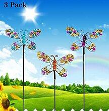 YOUKOOD Schmetterlings-Gartenstecker-Set, aus