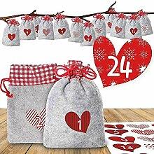 youngfate Adventskalender Weihnachten 24 Taschen