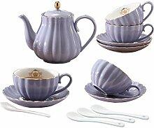 YoungQI Porzellan-Tee- und Kaffee-Set mit