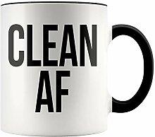 YouNique Designs Clean AF Tasse, 313 ml,
