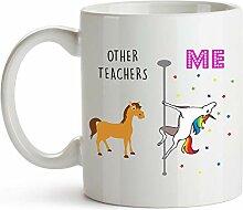 YouNique Designs Kaffeebecher für Lehrer, 325 ml,