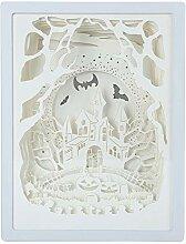 YOUQING Schnitzende Papierlampe 3d dekorative