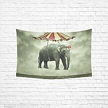 your-fantasia Wandbehang Tapisserie Home Dekoration Fantasy Fenster mit Marmor Artwork Ebru Muster, Baumwoll-Leinen, 90\(W) x 60\(H), Color32