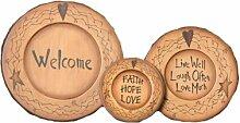 Your Heart's Delight Welcome-Holzteller,