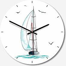 YOURANN Wanduhr Dekorative Uhr Maritim Nordic