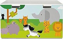 yourdea Aufkleber für Kinderzimmer IKEA Stuva Bank Truhe mit Motiv: Wilde Tiere