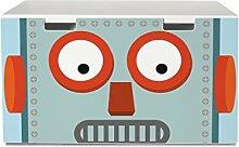 yourdea Aufkleber für Kinderzimmer IKEA Stuva Bank Truhe mit Motiv: Shocked Robo