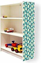YOURDEA - Aufkleber für Kinderzimmer Möbel IKEA Billy Regal 100x80cm mit Motiv: Königspinguine für die rechte Seitenwand