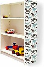 YOURDEA - Aufkleber für Kinderzimmer Möbel IKEA Billy Regal 100x80cm mit Motiv: Im Winter für die rechte Seitenwand