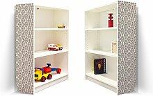 YOURDEA - Aufkleber für Möbel IKEA Billy Regal 100x80cm mit Motiv: Muster Indisch für beide Seitenwände