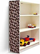 YOURDEA - Aufkleber für Möbel IKEA Billy Regal 100x80cm mit Motiv: Kirschblüten für die linke Seitenwand