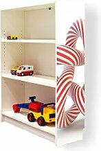 YOURDEA - Aufkleber für Möbel IKEA Billy Regal 100x80cm mit Motiv: Unendlich für die rechte Seitenwand