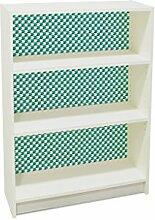 YOURDEA - Aufkleber für Möbel IKEA Billy Regal 100x80cm mit Motiv: Pfeile Schlicht inklusive Rakel