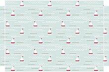 YOURDEA - Aufkleber für Möbel Kinderzimmer für IKEA Lack Tisch Couchtisch mit Motiv: Segeln