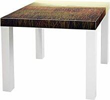 YOURDEA - Aufkleber für Möbel Sticker für IKEA Lack Tisch Beistelltisch Couchtisch Motiv mit Motiv: Morgengrauen